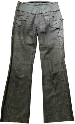 Issey Miyake Brown Cotton Trousers