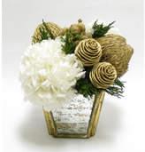 Bougainvillea Metallic Spiral Cones Hydrangeas Floral Arrangements Flower