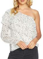 1 STATE 1.STATE One Shoulder Tiered Sleeve Blouse