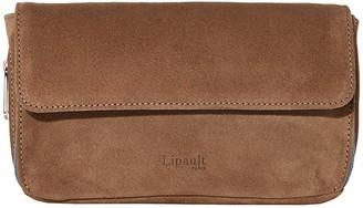 Lipault Paris Rendez-Vous Suede Wallet (Dark Taupe/Icy Blue) Bags