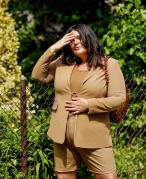 Danielle Bernstein Plus Size Blazer, Created for Macy's