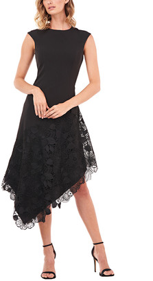 Kay Unger Emily Chemical Lace Midi Dress
