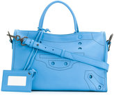 Balenciaga Small Blue Leather Blackout City bag