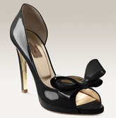 Bow Detailed Patent Leather d'Orsay Pump