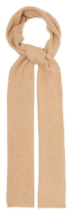 Allude Ribbed Cashmere-blend Scarf - Camel
