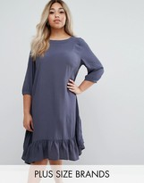 Junarose Frill Hem Swing Dress