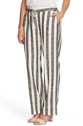 Vince Camuto Drop Waist Bold View Stripe Print Pants