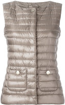 Herno collarless gilet - women - Cotton/Feather Down/Polyamide/Acetate - 38