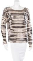 White + Warren Striped Cashmere Sweater
