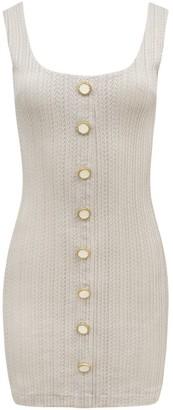 BEIGE Saint Body Tank Buttons Dress