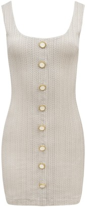 BEIGE Tank Buttons Dress
