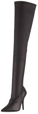 Yeezy Stretch-Leather Over-the-Knee Boot