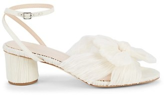 Loeffler Randall Dahlia Crepe Bow Ankle-Strap Sandals