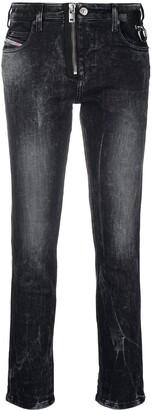 Diesel Vintage Wash Cropped Jeans