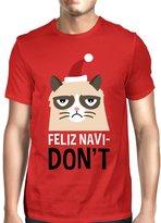 365 Printing 365Printing Feliz Navidon't Black Men's T-shirt Christmas Gift For Cat Lovers