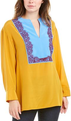 Tory Burch Lace Silk Tunic