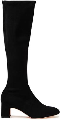 Stuart Weitzman Stretch-suede Knee Boots