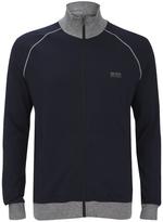 HUGO BOSS Men's Zipped Sweatshirt Navy