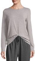 Eileen Fisher Long-Sleeve Long Jersey Top