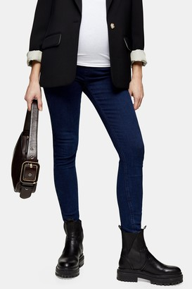 Topshop Womens **Maternity Over The Bump 32 Indigo Jeans - Indigo