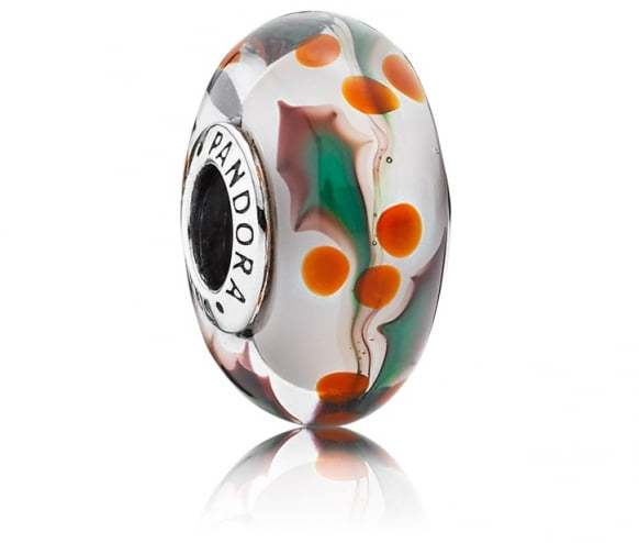 Pandora Christmas Holly Murano Charm 791647