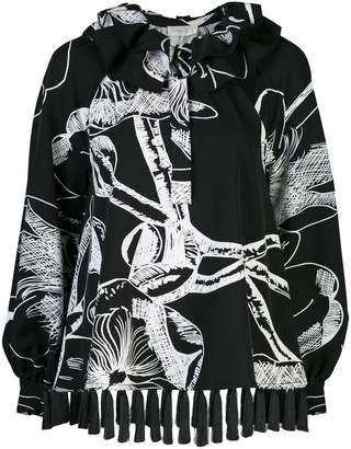 Stine Goya printed tasseled blouse