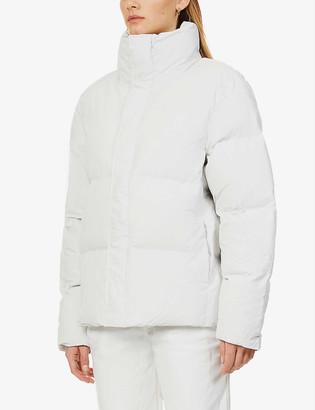 Rains Funnel-neck boxy shell puffer jacket