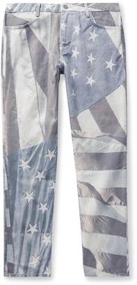 424 Printed Denim Jeans