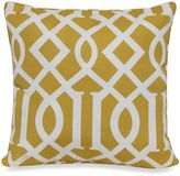 Bed Bath & Beyond 17-Inch Square Throw Pillow in Yellow Trellis