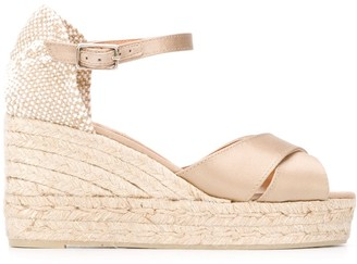 Castaner Woven High-Heel Wedges