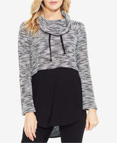 Vince Camuto TWO By Colorblocked Cowl-Neck Sweater