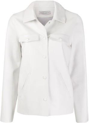 Inès & Marèchal Leather Shirt Jacket