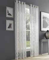 """J Queen New York Geneva White Semi-Sheer 50"""" x 63"""" Grommet Curtain Panel"""