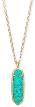 "Kendra Scott 14k Gold-Plated Stone Long Pendant Necklace, 32"" + 2"" extender"