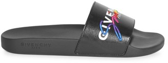Givenchy Embroidered Logo Pool Slides