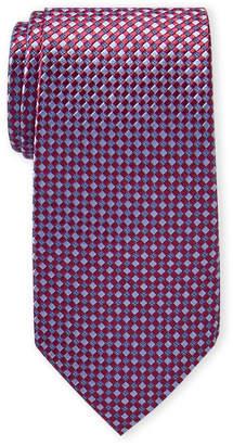 Michael Kors Red Checkered Silk Tie