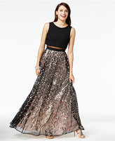Say Yes to the Prom Juniors' Sequined Illusion Popover Gown, A Macy's Exclusive