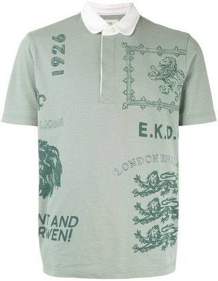 Kent & Curwen lion print polo shirt