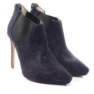 Rupert Sanderson Blue Leather Ankle boots