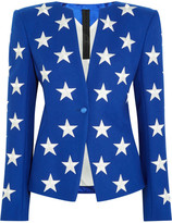 Gareth Pugh Embroidered Wool-blend Blazer - Royal blue