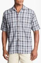 Tommy Bahama 'Plaid-lantic' Silk Campshirt