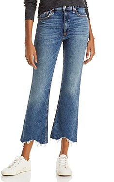 Rag & Bone Nina Frayed Flare Ankle Jeans in Copper Hill