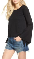 Blank NYC Women's Blanknyc Shadow Bell Sleeve Top
