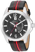 ESQ Men's Stainless Steel Watch w/ and Red Leather Strap FE/0090