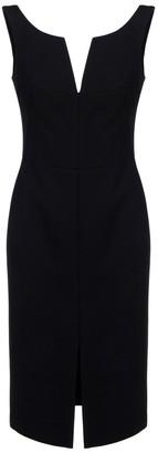 Alexander McQueen Front Slit Midi Dress