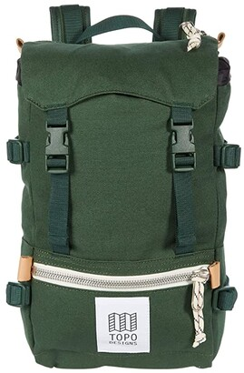 Topo Designs Rover Pack Mini Canvas (Forest Canvas) Backpack Bags