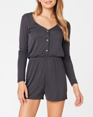 Express Easy Living Henley Romper