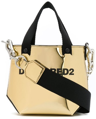 DSQUARED2 Metallic Logo Print Tote Bag