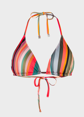 Paul Smith Women's 'Swirl' Print Triangle Bikini Top