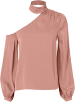 Exclusive for Intermix Luna One Shoulder Choker Neck Top Blush 2